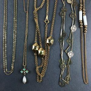 Vintage Assorted gold Avon chain necklaces